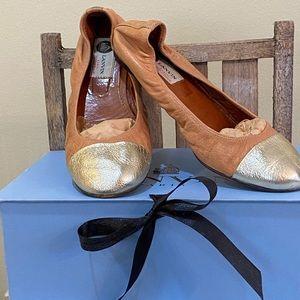 LANVIN Leather Ballet Slip Ons